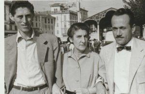 Da sinistra a destra: V. Tonolli, L. Pirocchi, A. Buzzati-Traverso (s.d.) (Archivio Cnr--Ise, Verbania Pallanza)